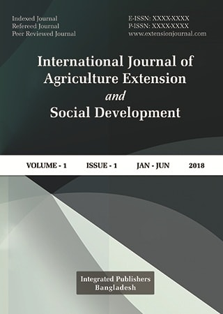 International Journal of Agriculture Extension, Sociology and Social Development